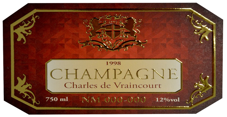 シャンパンラベル8